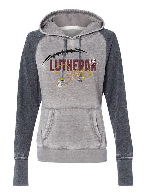 Lutheran-Ladies Weathered 2-Tone Hoody