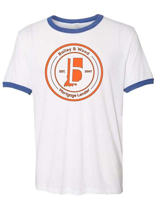 B & W-Ringer T-shirt