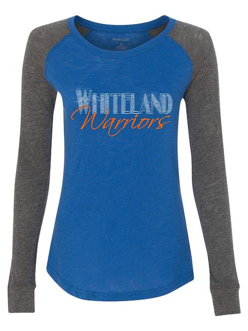 Whiteland-Ladies Longsleeve patch T-shirt
