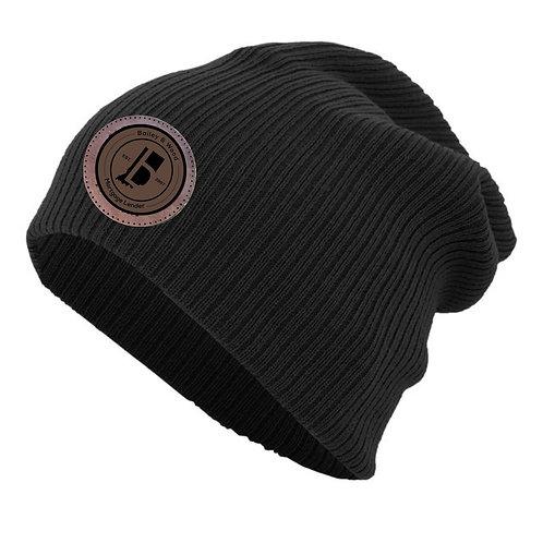 B&W-Slouchy Beanie Hat