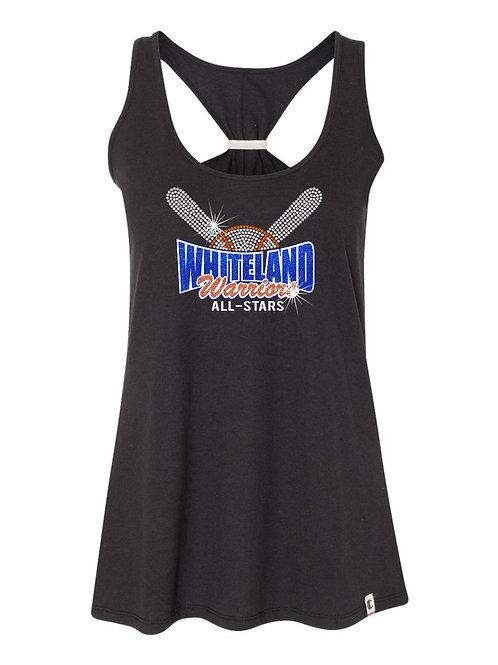 Whiteland-Baseball Women's Tie Back Tank