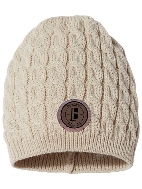 B&W-Cable Knit Hat