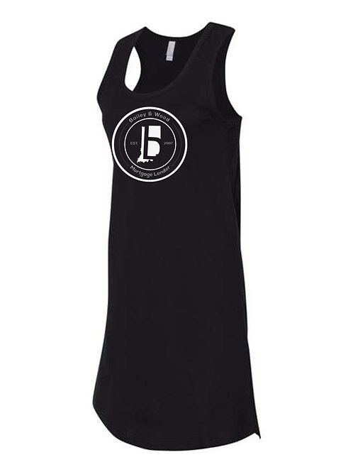 B & W-Ladies Racerback Tank Dress