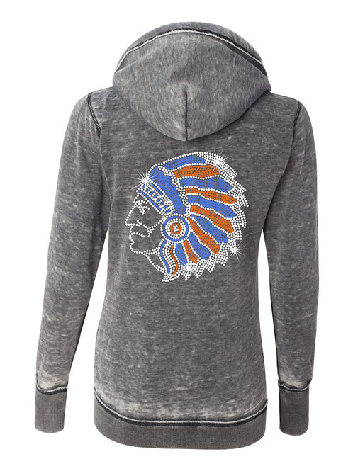 Whiteland Warriors-Ladies Weathered Zipup Hoody