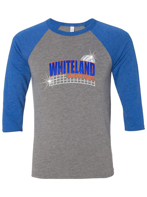 Whiteland Warriors 3/4 Sleeve Baseball T-shirt