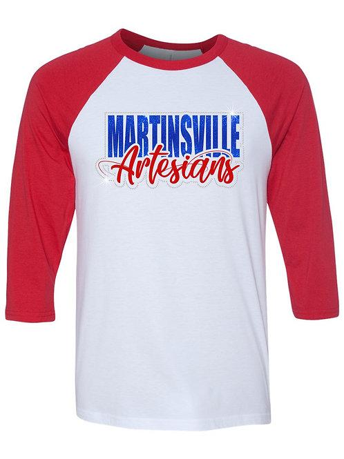 Martinsville-3/4 Sleeve Baseball T-shirt