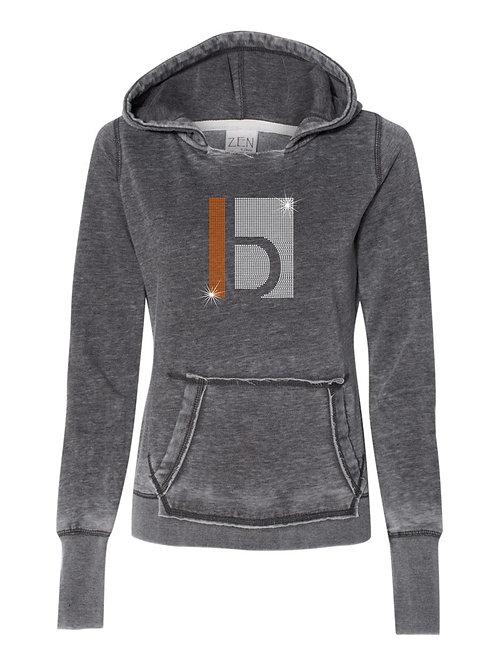 B&W-Weathered Hooded Sweatshirt