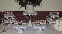 Dessert table at a wedding at The Orchard House