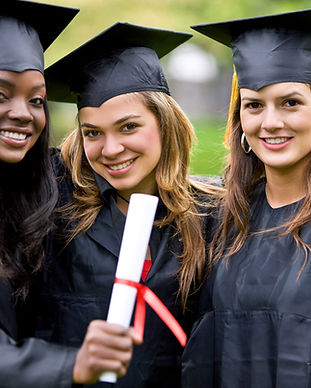High School graduates with high marks going to college.