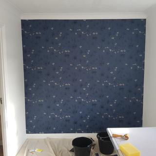 Butterworth decorators dark blue wallpap