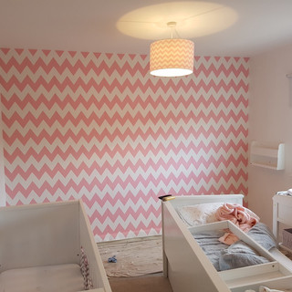 Butterworth decorators pink nursery wall