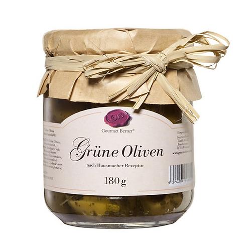 Grosse grüne Oliven ohne Stein 212ml / 180g