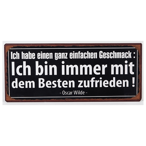 """Geschenk-Schild """"mit dem Besten"""""""