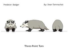 Badger: Predator (Turnaround Sheet)