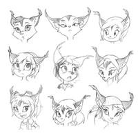 Animal Head Sketches