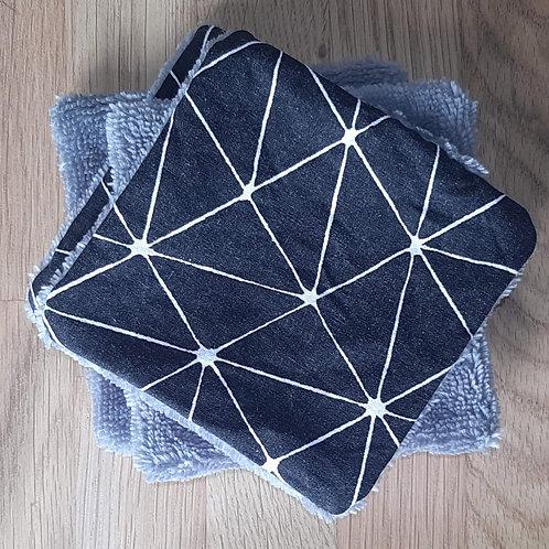 Cotons démaquillants réutilisables x 4 // Black O