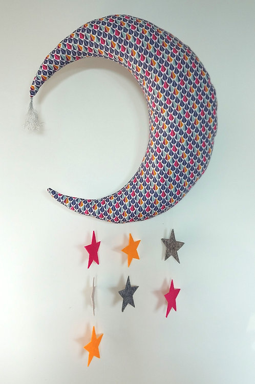 Coussin lune // Colorful Moon
