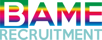 BAME Recruitment logo rainbow transparen