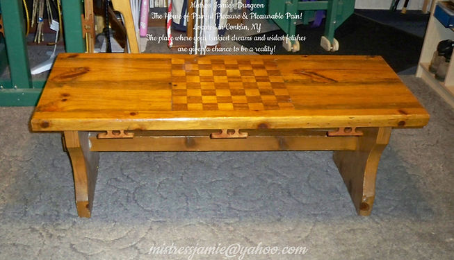 Coffee Table with Tiedown cleats 1-8-202