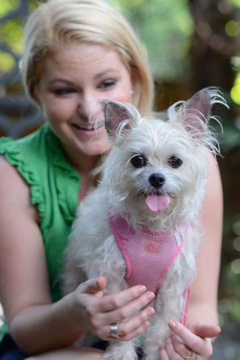 A girl and her sweet pup Vidalia