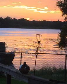 Photo of sunset on Lake Magdalene