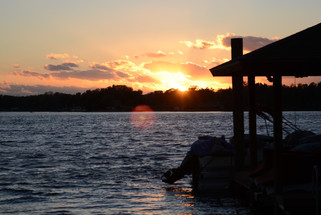 Photo of Sunset from a dock on the lake