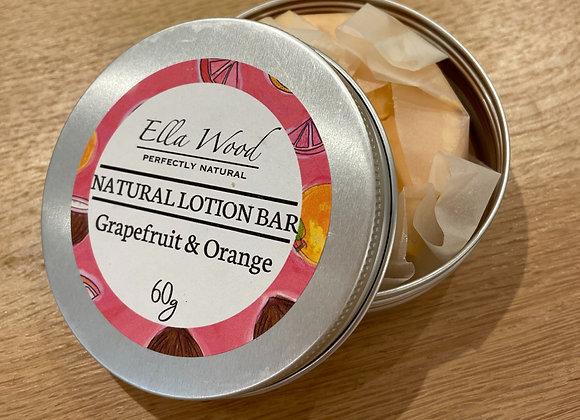 Ella Wood Natural Lotion Bar - Grapefruit & Orange
