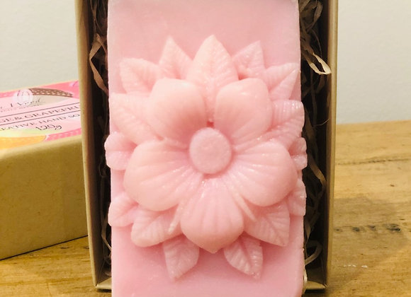 Large Flower Creative Soap - Orange and Grapefruit