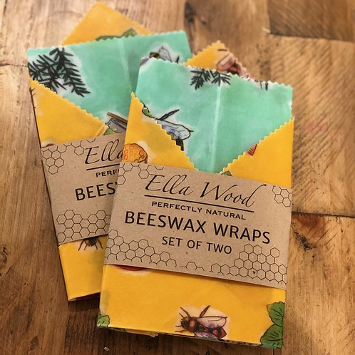 Beeswax Wraps - Honey and Mint Mixed Colour Design