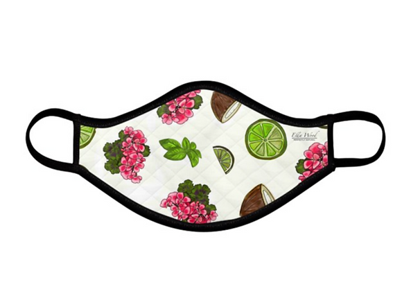 Rose and Geranium reusable Fabric Face mask