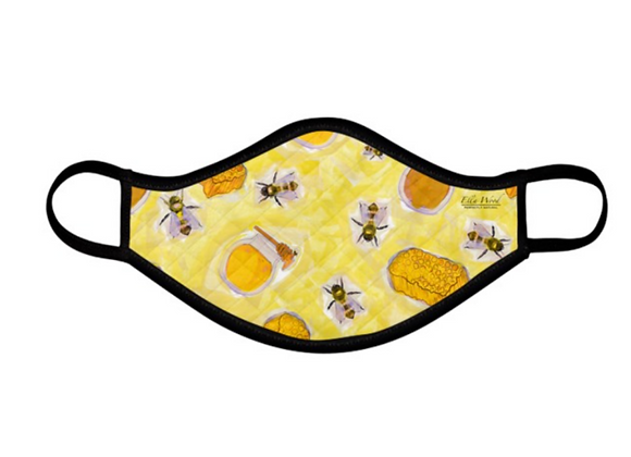 Bee and Honey Golden reusable Fabric Face mask