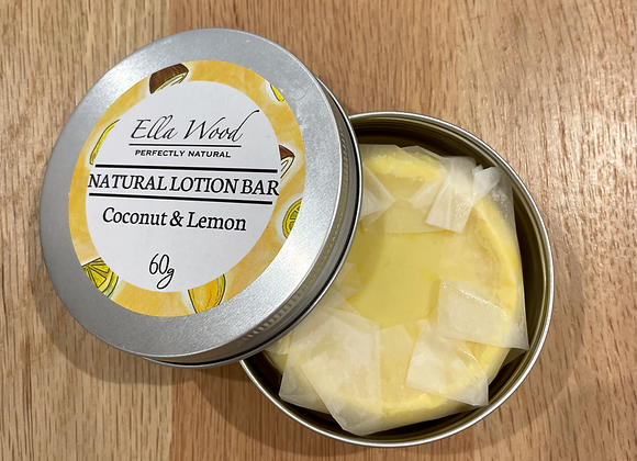 Ella Wood Natural Lotion Bar - Coconut & Lemon
