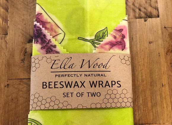 Beeswax Wraps - Patchouli and Lime Design