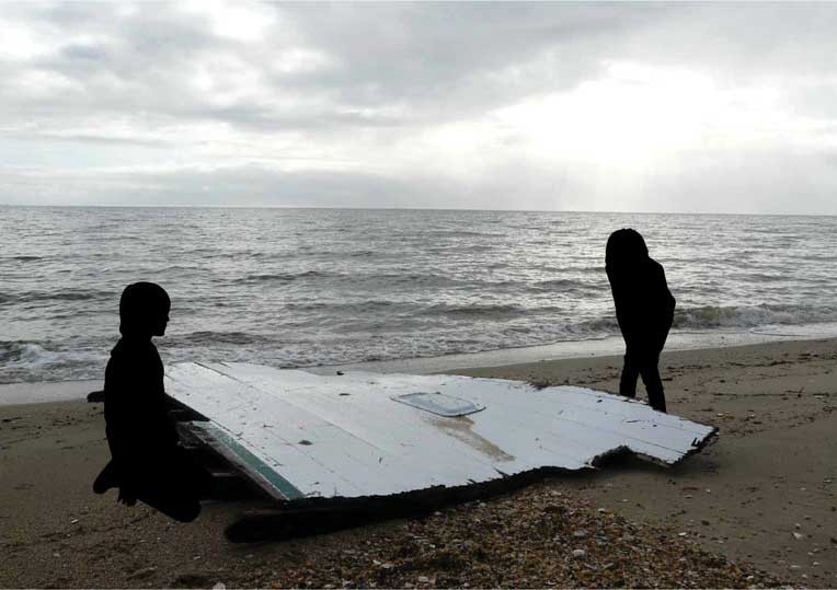 Silhouetten strand