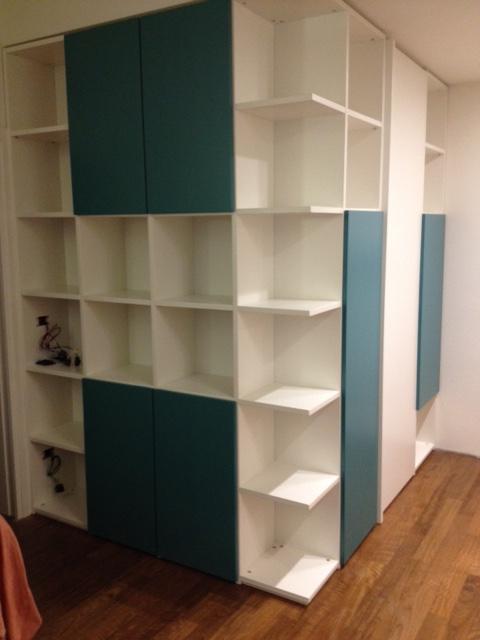Libreria laccata bicolore 1