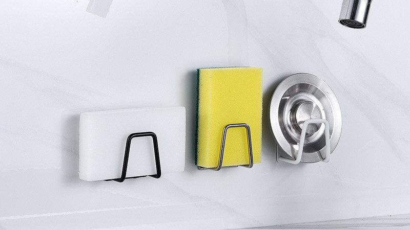 1Pcs Non-Slip Sink Accessories Sponge Holder  stainless steel/ plastic organizer