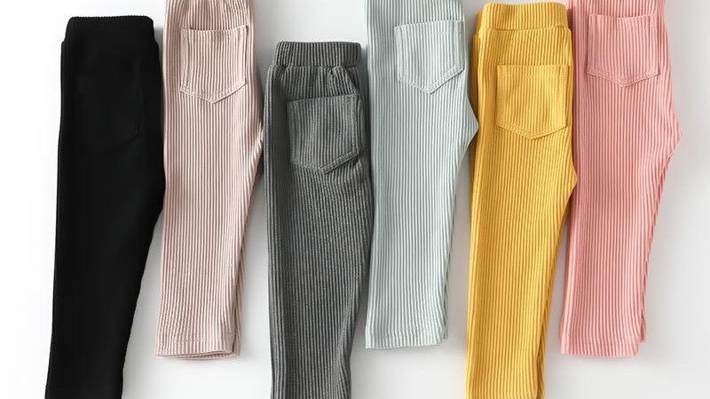 Baby Girls Boys Leggings Cotton Fashion High Waist Long Trousers Children's Pant