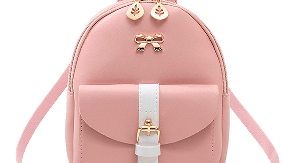 Women's Mini Backpack Luxury PU Leather Cute Graceful Small School Bag for Girls