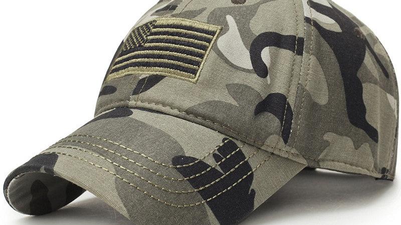 New Men USA Camouflage Baseball Cap Army Dad Male  America Trucker Cap