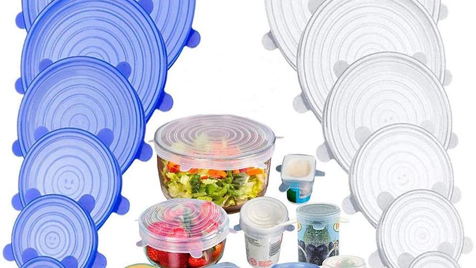 Silicone Cover Stretch Lids Reusable Airtight Food Wrap Covers Stretchy Wrap
