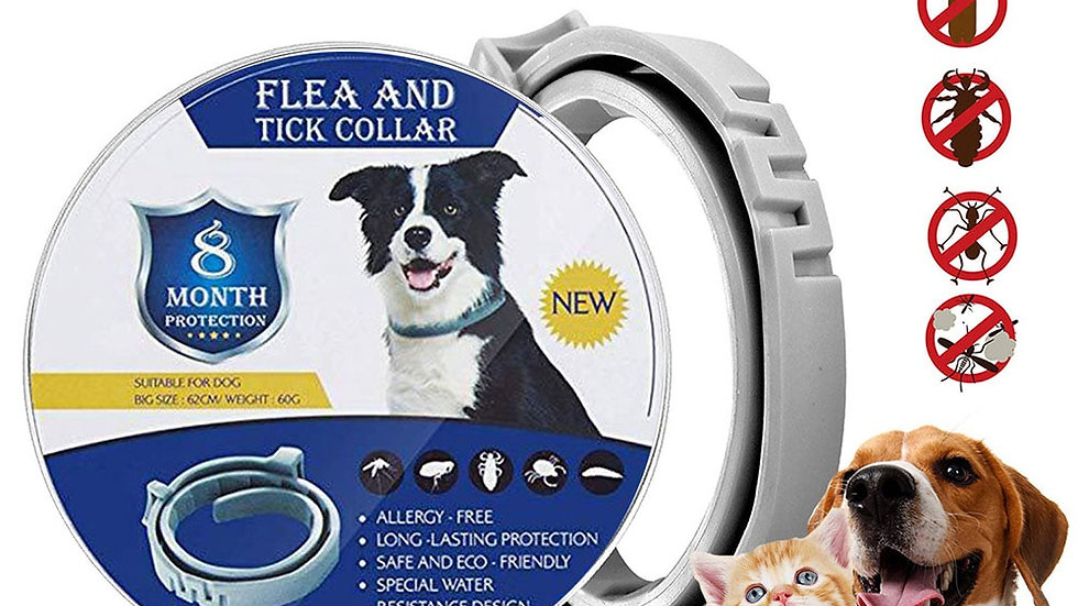 Removes Flea and Tick Collar for Dogs Cats Up to 8 Month Flea Tick Collar