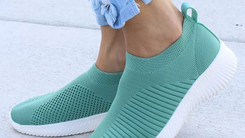 Women Shoes Knitting Sock Sneakers Spring Summer Slip on Women Loafers Flats