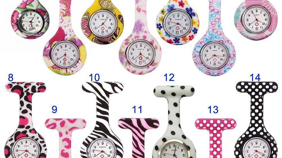 Nurse Watches Clip-On Fob Brooch Pendant Pocket Hanging Nurses  fob watch