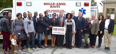 Ambulance donated to community in Haiti
