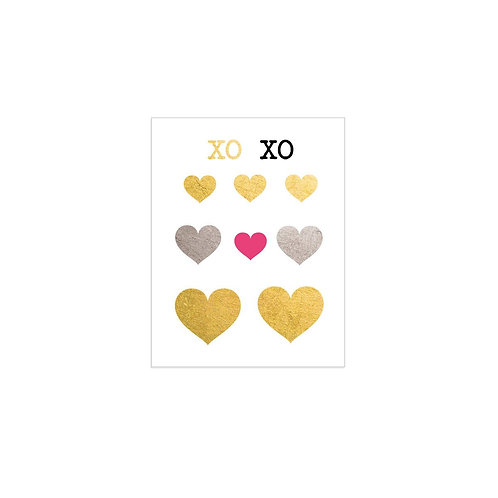 2 PACK Love Hearts Tattoos - Heiress