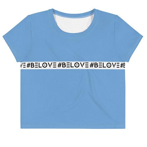 #BeLove Crop Top - Signature Blue
