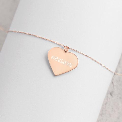 #BeLove Engraved Heart Necklace