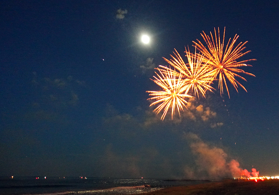 Fireworks On Belmar Beach