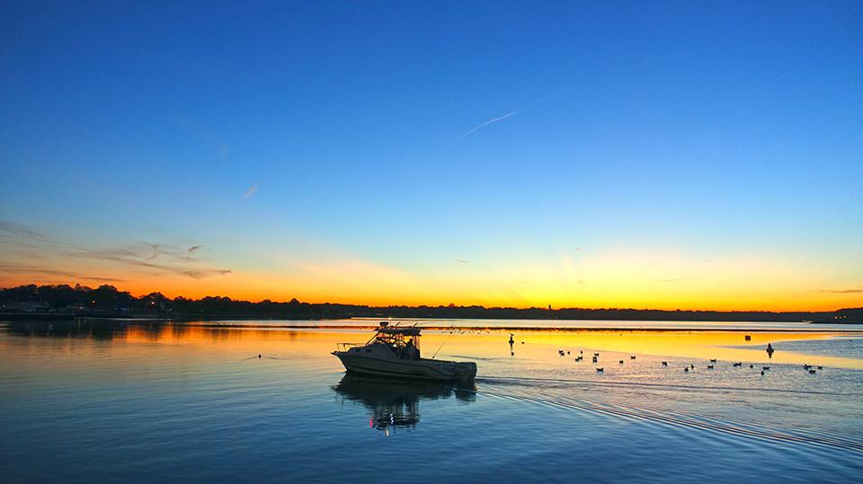 Shark River Sunset Belmar NJ