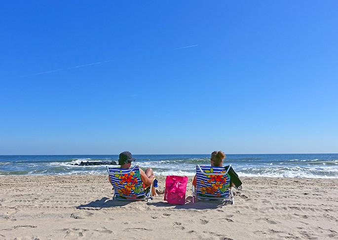 Relaxing On Belmar Beach